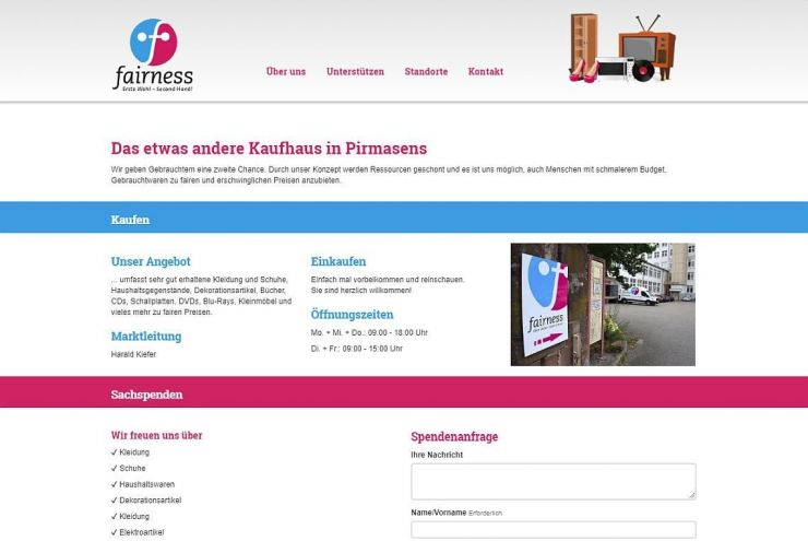 Fairness Kaufhaus Standorte